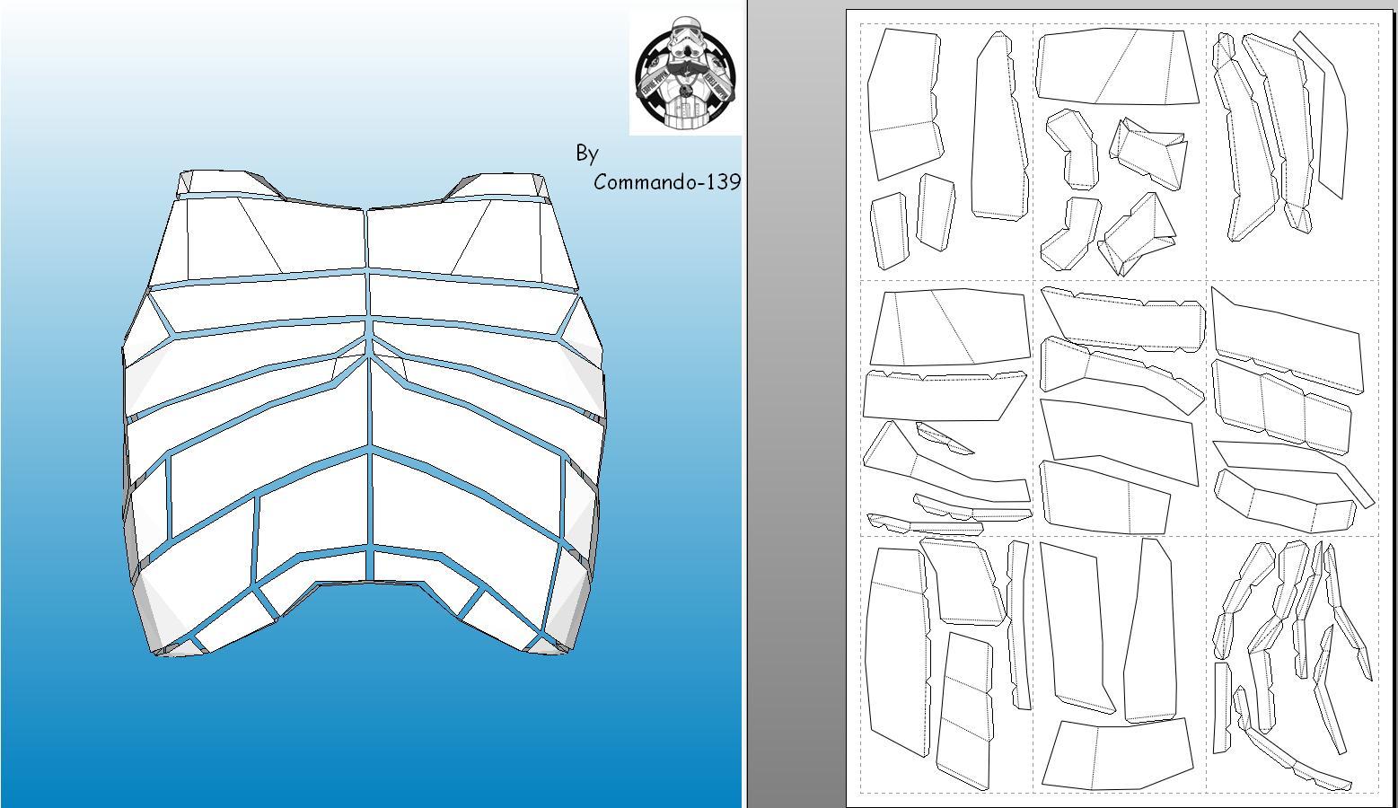 Как сделать из бумаги костюм штурмовика
