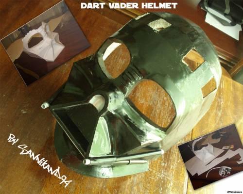 Как сделать шлем. дарта вейдера