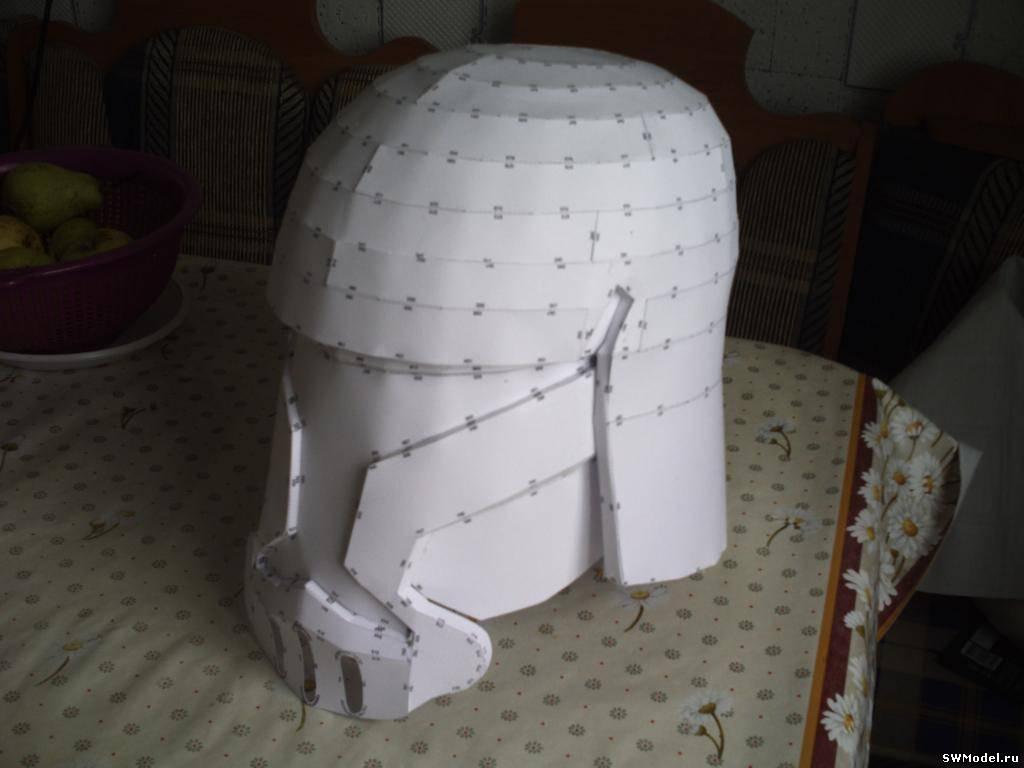 Шлем клона из бумаги